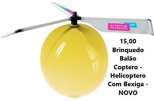 Brinquedo Balão Coptero - Helicoptero Com Bexiga - Novo