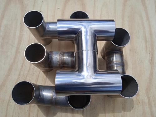 Imagem 1 de 5 de Equalizador Escape  X-pipe Para Motor V6 A V12 Aço Inox 304