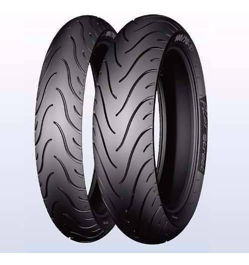 Par Pneu 60/100-17 + 80/100-14 Michelin P Street Biz *