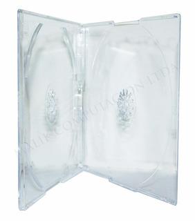 Pack De 25 Cajas Cd Slim Doble Transparente 5mm Caja Premium