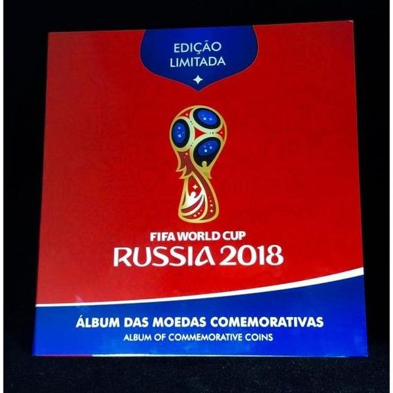2 Álbuns Completo Das Moedas Copa Da Rússia 2018