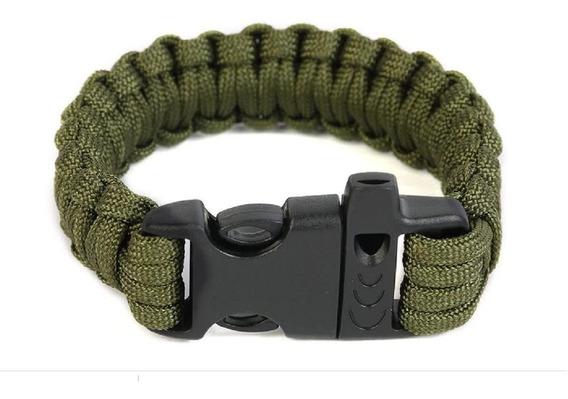 Pulseira Bracelete Tatico Sobrevivencia Paracord