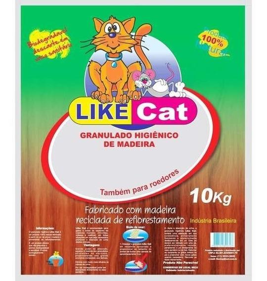 Granulado Higiênico Like Cat De Madeira 10kg (3) Pacote