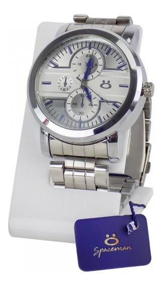 Relógio Masculino Pulseira Aço Inox Original Caixa