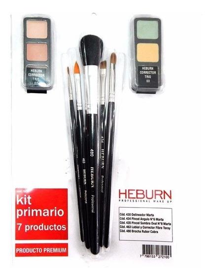 Heburn Pinceles Brochas Maquillaje 509 Primario + Corrector