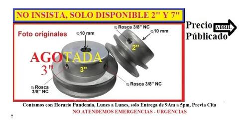 Polea Nuevas Aluminio 2  Orificio 10 Mm Sin Cuña.