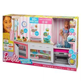 Boneca E Playset - Cozinha De Luxo Da Barbie Frh73 - Mattel