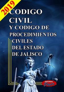 Código Civil Y Código De Procedimientos Civiles De Jal. 2019