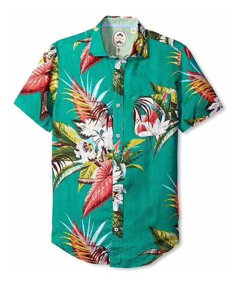 Exclusiva Camisa De Lino Ganesh L Playa 100% Lino