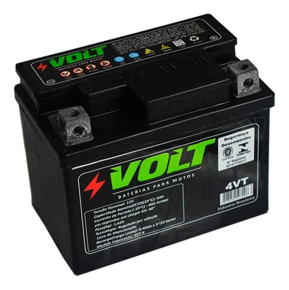 Bateria Moto Biz Cg Titan Suzuki Jog Ttr 4vt 4ah Amperes 12v