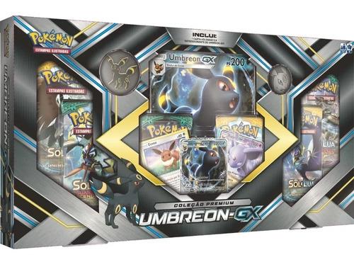 Card Game Pokémon Tcg Box Sol E Lua Premium Umbreon Gx