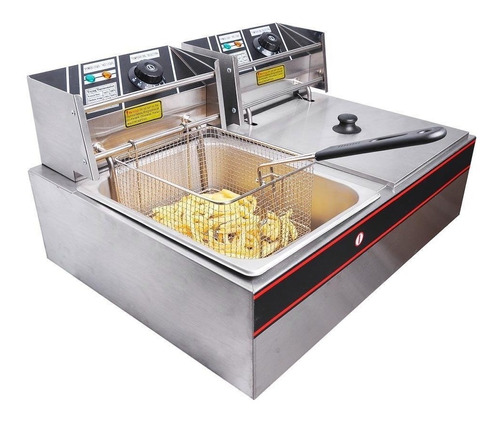 Yescom Freidora Industrial Comercial 12 Litros 5000 Watts