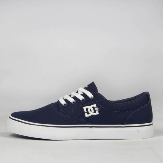 Tênis Skate Dc Shoes New Flash 2 Tx Navy/white Original