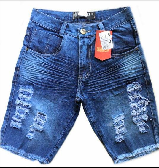 Bermuda Detonada Jeans Luxo.