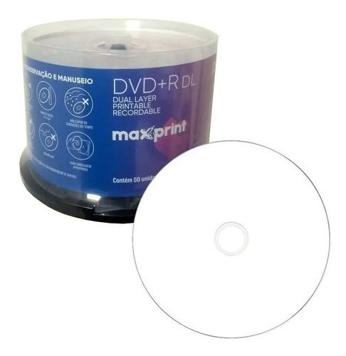50 Dvd Dl 8,5gb Maxprint Print Umedisc Grava Jogos Xbox 360