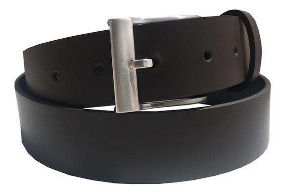 Cinturon Cafe Cuero Recuperado Uniforme Traje
