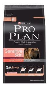Ração Pro Plan Sensitive Skin Complet Adultos 10kg