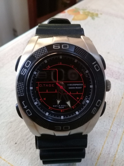 Relógio O.tage Agero - Modelo Tga 9002 - Analógico E Digital