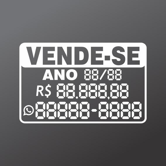3 Adesivos Vende Carro C/preço (autopreenchimento) 30x20cm
