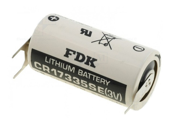 Bateria Fdk Cr17335se-pcb 3v 2/3a 2/3r23 2 Pinos Positivo