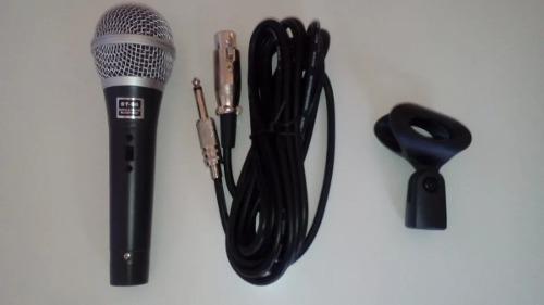 Microfone Staner Super Cardióide Cabo Cachimbo St-68 Staner