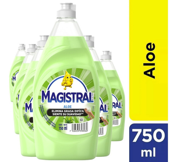 Pack 6 Lavaloza Concentrado Magistral Aloe 750 Ml