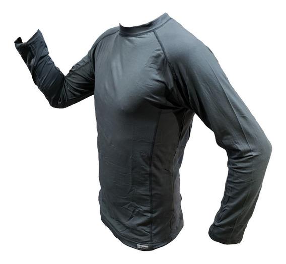 Remera Termica Camiseta Hombre Mujer Frio Explora Bamboo Unisex Primera Piel Respirable Secado Rapido Filtro
