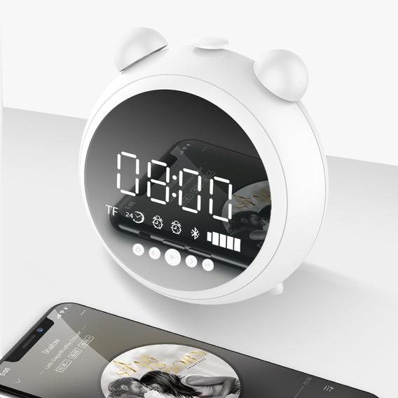 Multi-funcional Sem Fio Led Digital Alarme Despertador Hd Es
