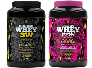 Whey 3w 900g + Whey Protein Woman C/ Colágeno Iridium Labs