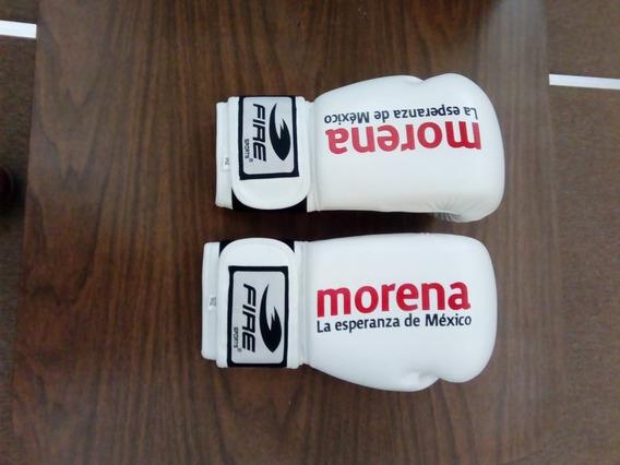 Guantes Box Piel Blanco Frase Morena 10 Oz
