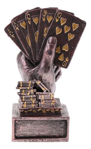 Estatua De Mano Con Poker Regalo De Recuerdo Copa Para
