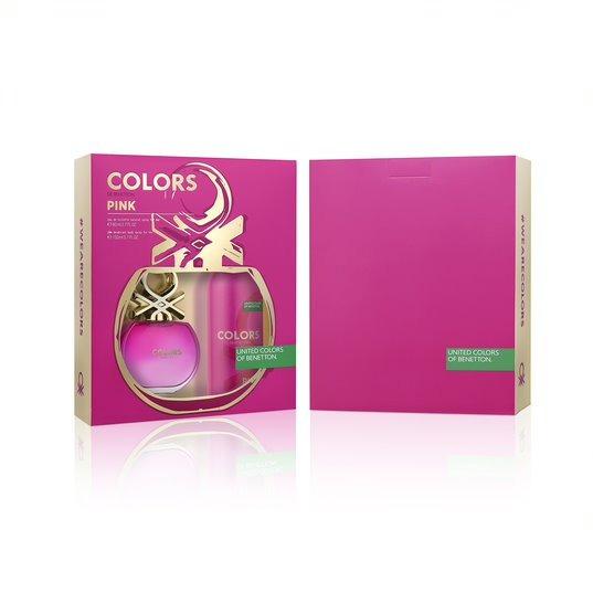 Kit Feminino Benetton Colors Pink Perfume & Desodorante