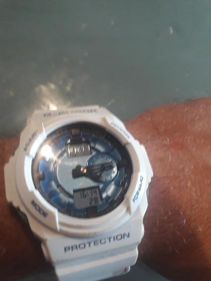 Relogio Casio G Shock Branco Ga 150 Mf-7 Pouco Uso!