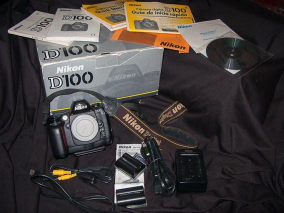 Câmera Nikon D100 + Acessórios + Cartão - Apenas 4900 Clicks