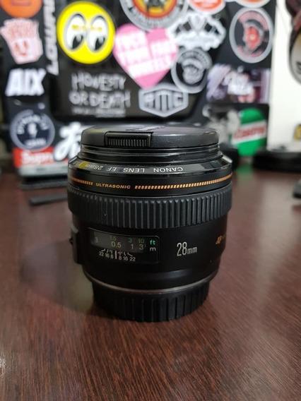 Lente Canon 28mm 1.8
