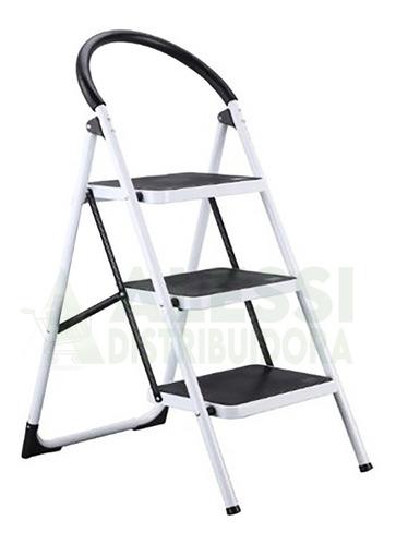Imagen 1 de 1 de Escalera Con Soporte Ovalado, Pleglable De Aluminio 3 Pisos