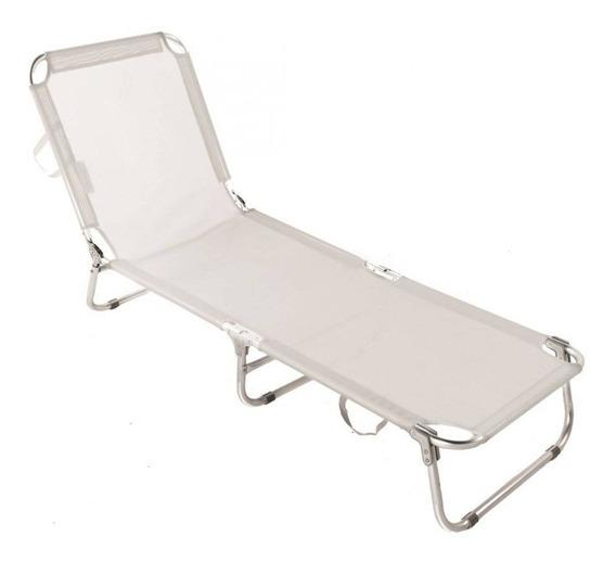 Cadeira Espreguiçadeira Textilene Alum 5 Posições Bel Lazer