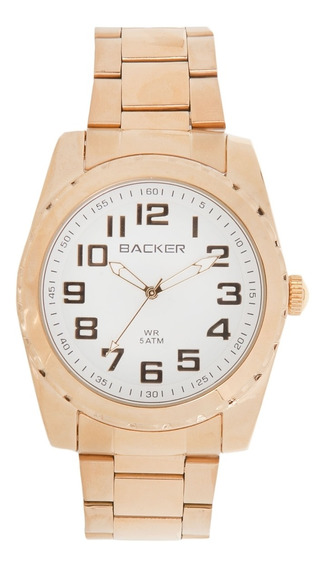 Relógio Masculino Backer Analógico 3293145m - Dourado