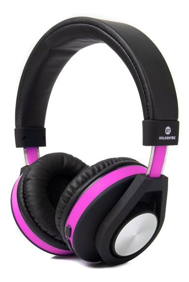 Headphone Bluetooth Gt Follow Goldentec Roxo (gt5btli)