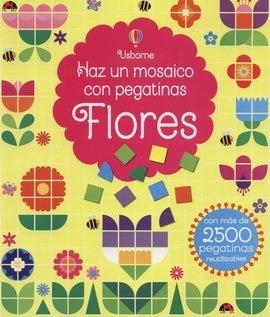 ** Flores . Haz Un Mosaico Con Pegatinas ** Usborne
