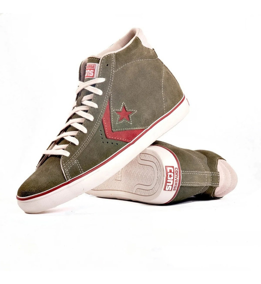 Zapatillas Converse Pro Leather Vulc Verde - Envio Gratis-