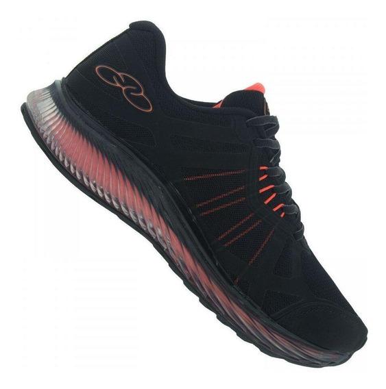 Tênis Running Olympikus Masculino Vortex 776 Preto/laranja