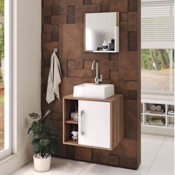 Conjunto Para Banheiro Gabinete Com Cuba Quadrada Q32 Id