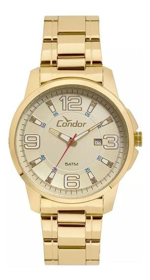 Relógio Condor Masculino Dourado C/ Garantia E Nota Fiscal