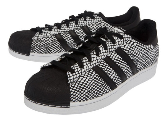 Tenis adidas Originals Superstar Snake Branco Com Preto