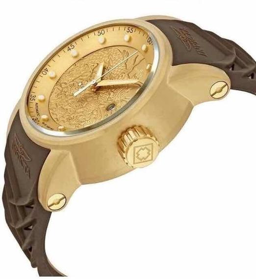 Relógio Invicta Yacuza Automático , Brinde Pulseira Dourado