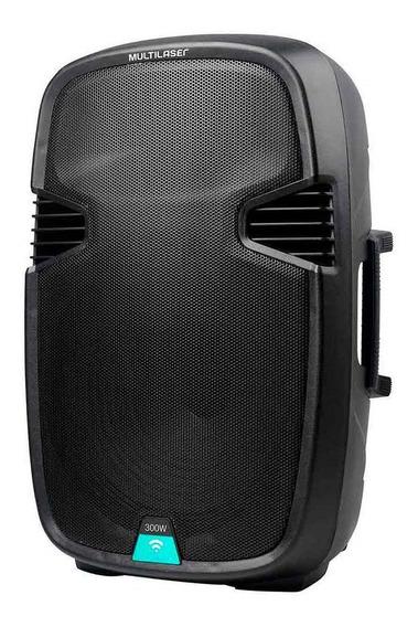 Caixa De Som Amplificadora Bluetooth 300w Sp220 Multilaser