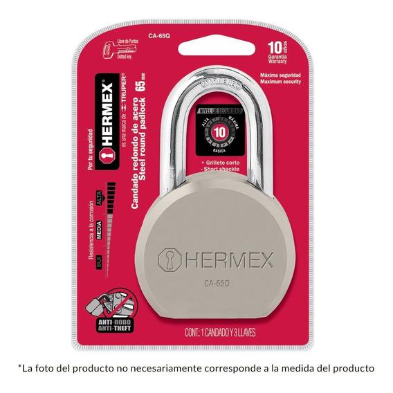 Candado Redondo De Acero 65mm Hermex Cod.43337