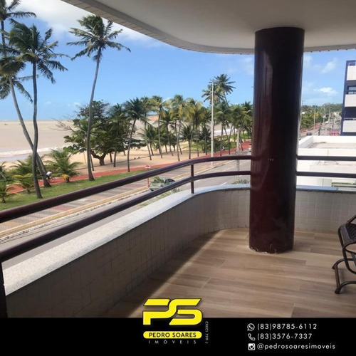 Apartamento Com 3 Dormitórios À Venda, 135 M² Por R$ 1.150.000 - Cabo Branco - João Pessoa/pb - Ap4237