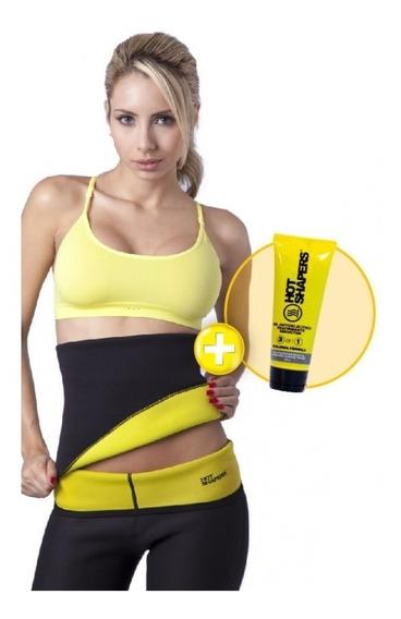 Faja Cinturilla Hot Shapers Lisa + Gel Reductor 3 En 1